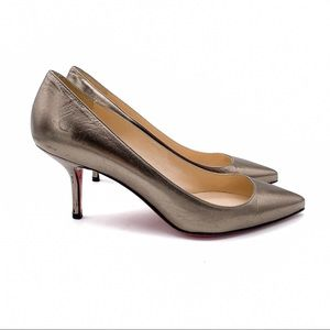 Christian Louboutin Pointed Toe Pumps Bronze